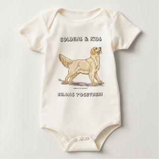 Body Para Bebê Os ouros & os miúdos pertencem junto!