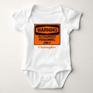 Body Para Bebê Os pessoais autorizados engraçados assinam somente