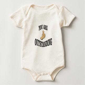 Body Para Bebê os polegares proeminentes levantam
