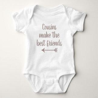 Body Para Bebê Os primos fazem os melhores amigos