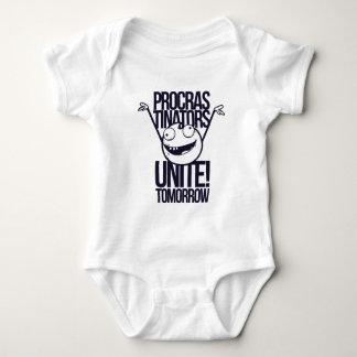 Body Para Bebê os procrastinadores unem-se amanhã