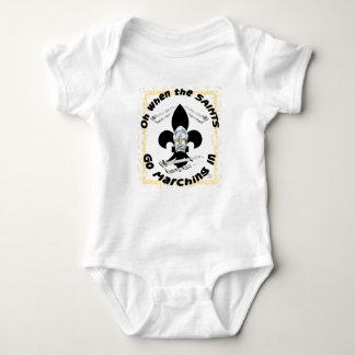 Body Para Bebê Os santos vão marchar dentro