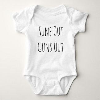 Body Para Bebê Os sóis para fora atiram para fora na roupa