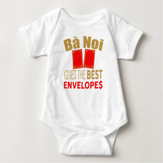 Body Para Bebê Os vagabundos Noi dão os melhores envelopes Tet do