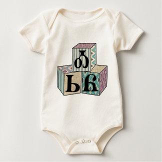 Body Para Bebê Osiyo - blocos Cherokee do cumprimento