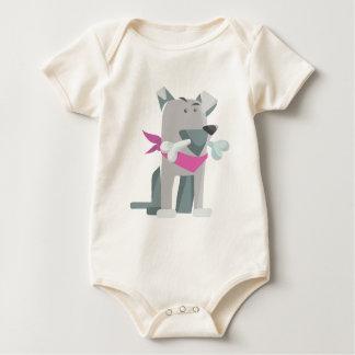 Body Para Bebê Osso de cão de Hund Knochen