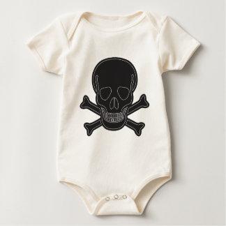 Body Para Bebê ossos maus pretos grandes