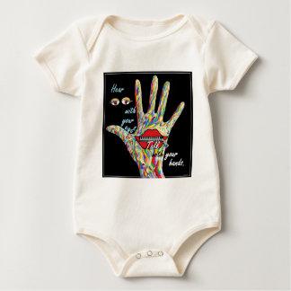 Body Para Bebê Ouça com seus olhos