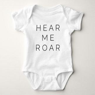 Body Para Bebê Ouça-me rujir (a pia batismal clara)