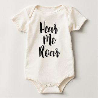 Body Para Bebê Ouça-me rujir a roupa do bebê