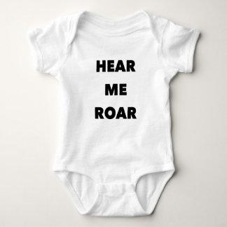 "Body Para Bebê ""Ouça-me rujir"" para o bebê"
