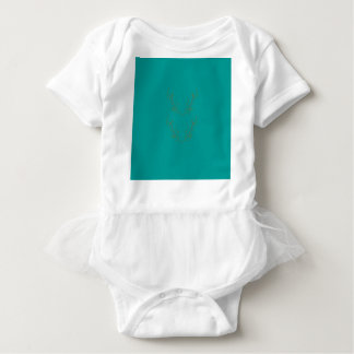 Body Para Bebê Ouro dos elementos do design ciano