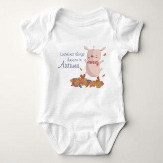 Body Para Bebê Outono leitão