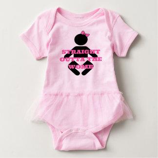 Body Para Bebê Outta reto recém-nascido do bebê o tutu do rosa do