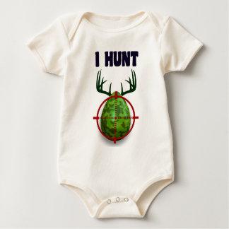 Body Para Bebê ovo da páscoa, eu caço ovos dos cervos da páscoa,