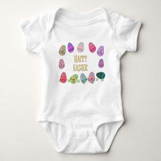 Body Para Bebê Ovos de felz pascoa com caras