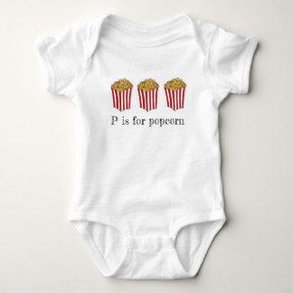 Body Para Bebê P é para a comida ABCs do carnaval do milho do