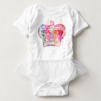 Body Para Bebê Pacifier da coroa