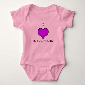 Body Para Bebê pai da força aérea