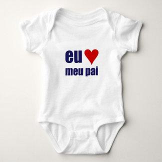 Body Para Bebê pai do meu do amo do eu