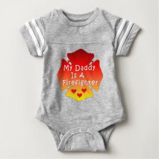 Body Para Bebê Pai do sapador-bombeiro