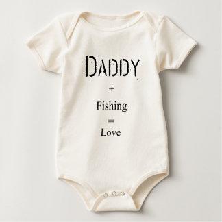 Body Para Bebê Pai + Pesca = amor