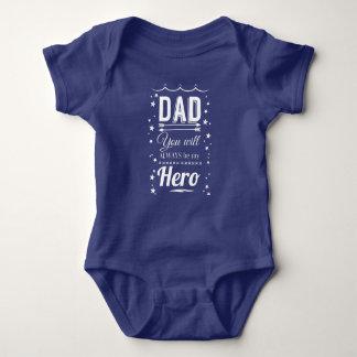 Body Para Bebê Pai, você será sempre meu herói
