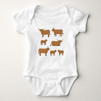 Body Para Bebê País de alto Cattle