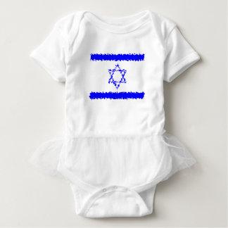 Body Para Bebê País do azul de Israel das bandeiras