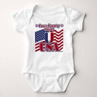 Body Para Bebê País transversal EUA de esqui
