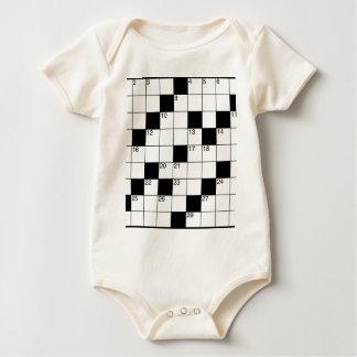 Body Para Bebê Palavras cruzadas