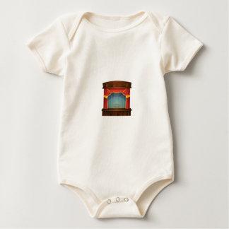 Body Para Bebê palco vermelho aberto