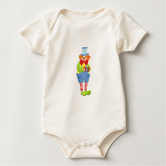 Body Para Bebê Palhaço amigável colorido com acordeão diminuto