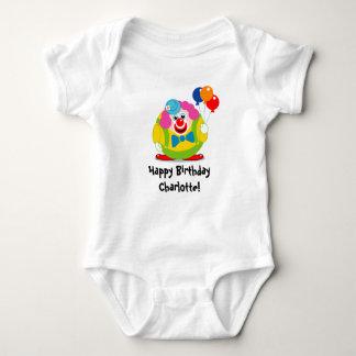 Body Para Bebê Palhaço de circo bonito dos desenhos animados do