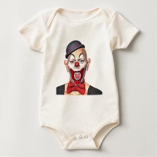 Body Para Bebê Palhaço do assassino que olha à parte dianteira