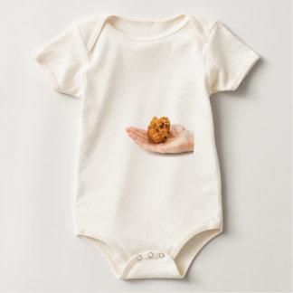 Body Para Bebê Palma da mão que mostra o frito ou o oliebol