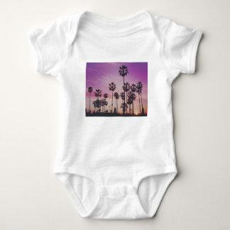 Body Para Bebê Palmeiras tropicais Miami Los Angeles Veneza