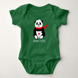 Body Para Bebê Pandas bonitos do bebê com chapéus de jogador e os