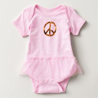 Body Para Bebê Panos do bebê do sinal de paz