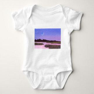 Body Para Bebê Pântano crescente do crepúsculo da lua & da