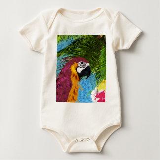 Body Para Bebê Papagaio do Ara
