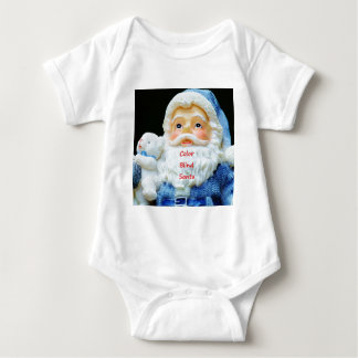 Body Para Bebê Papai noel das cortinas de cor com o urso polar do