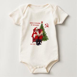 Body Para Bebê Papai noel de Karl Marx