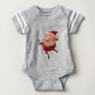 Body Para Bebê Papai Noel e a dança do sino