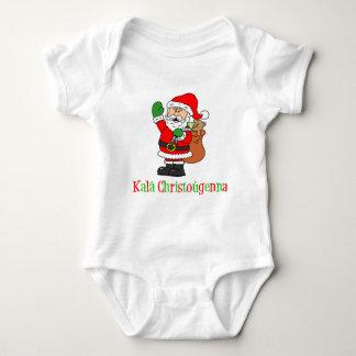 Body Para Bebê Papai noel grego do Natal