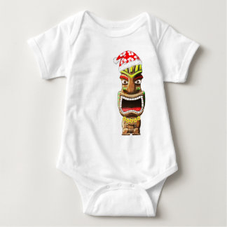 Body Para Bebê Papai noel havaiano Tiki do Natal