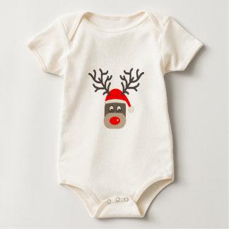 Body Para Bebê Papai noel Rudolf