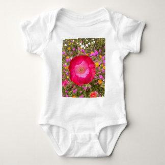 Body Para Bebê Papoila cor-de-rosa