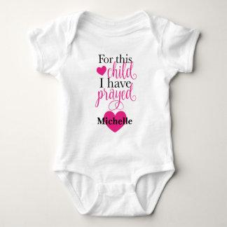 Body Para Bebê Para esta criança eu Prayed o Bodysuit