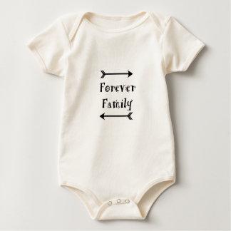 Body Para Bebê Para sempre família - design de Adpotion